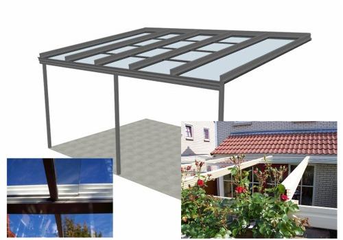 TerrassenUberdachung Holz Konfigurieren ~ Terrassendächer aus Aluminium >>> Schiebeüberdachung mit seitlicher
